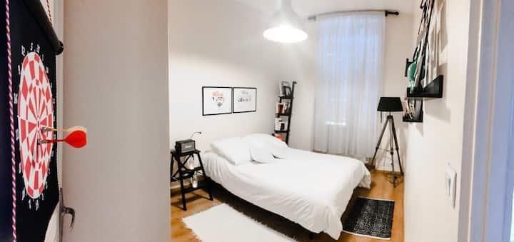 Chambre avec une belle vue sur la Saône