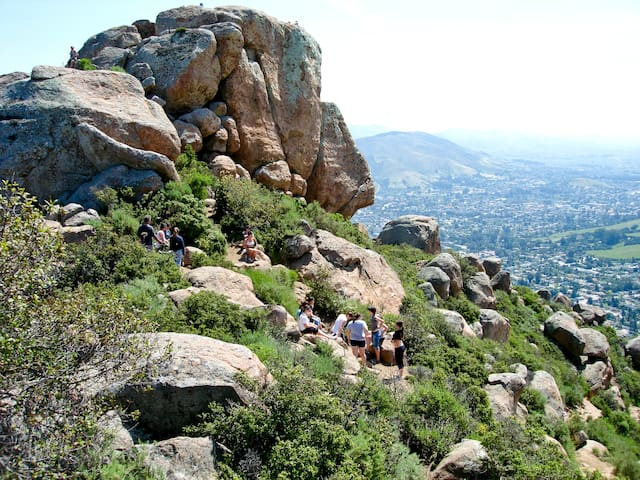 View of SLO from the top of Bishop's Peak, you will be in joy that you have such a view to behold!