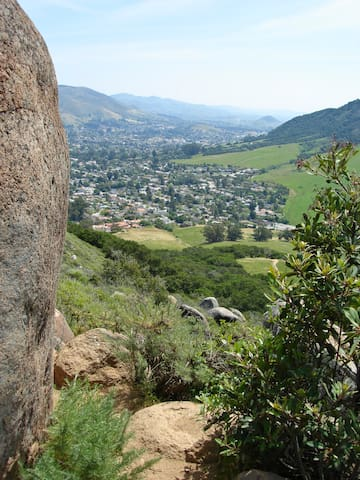 View of SLO from top of Bishop's Peak...the studio is below from this direction.