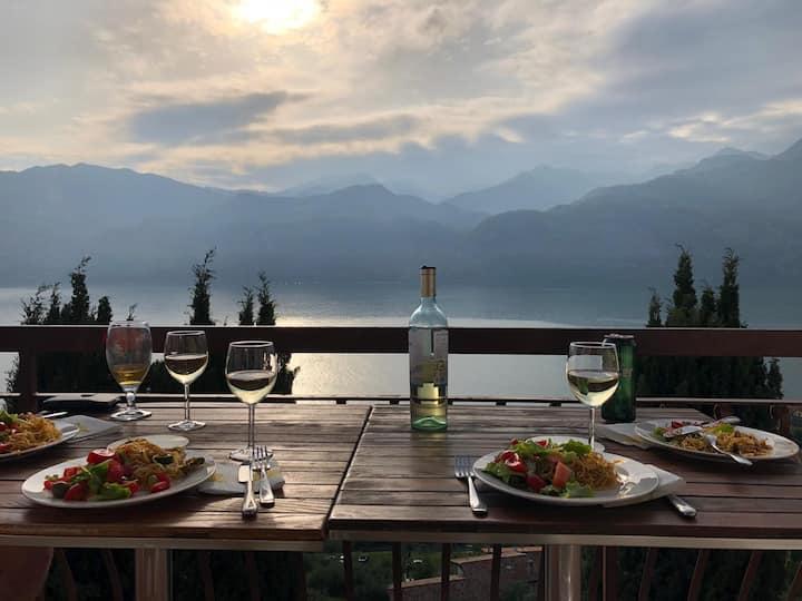 Ora - Baldovilla: appartamento vista lago+giardino