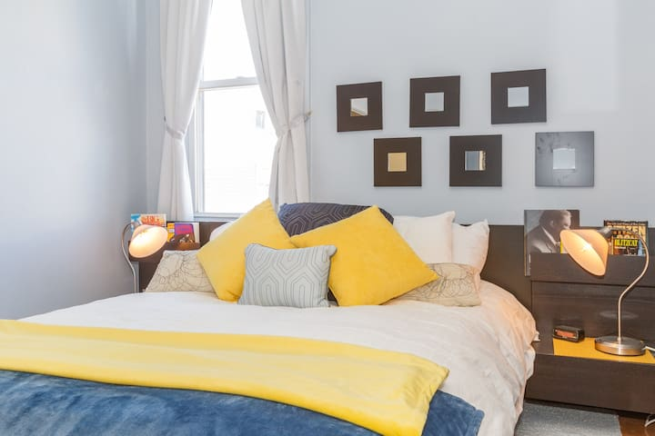 Bed Room #1 - Queen Pillow-top Bed with down feather duvet.