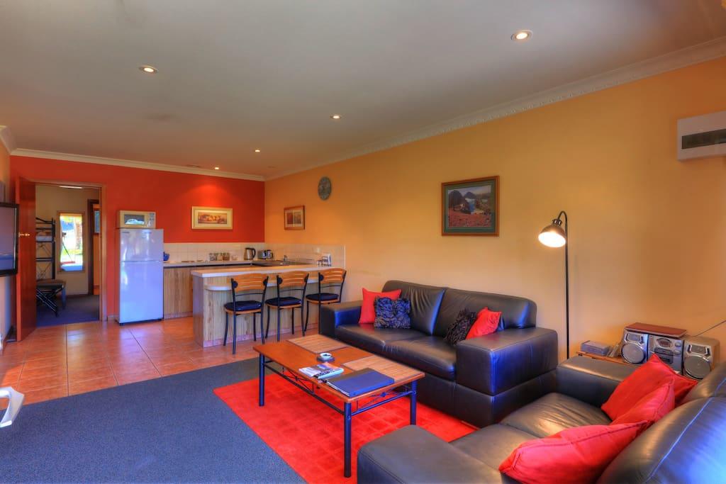 2 Bedroom apartment Lounge - kitchen.