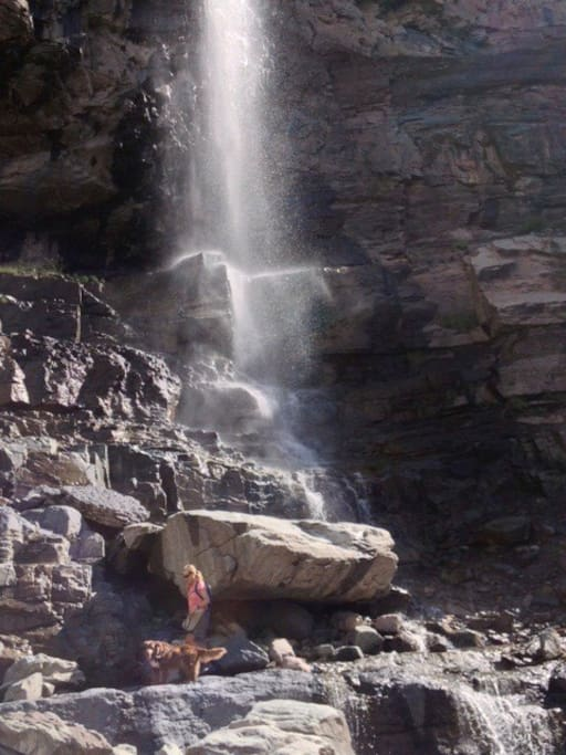 Ouray waterfall