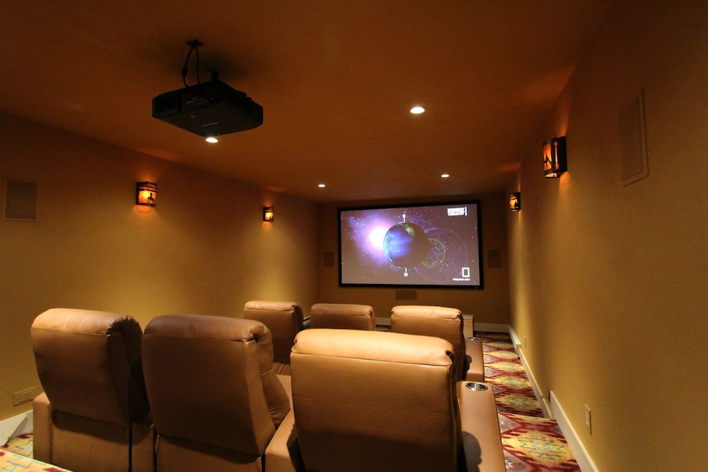 Home Theater room seating for 10 guests