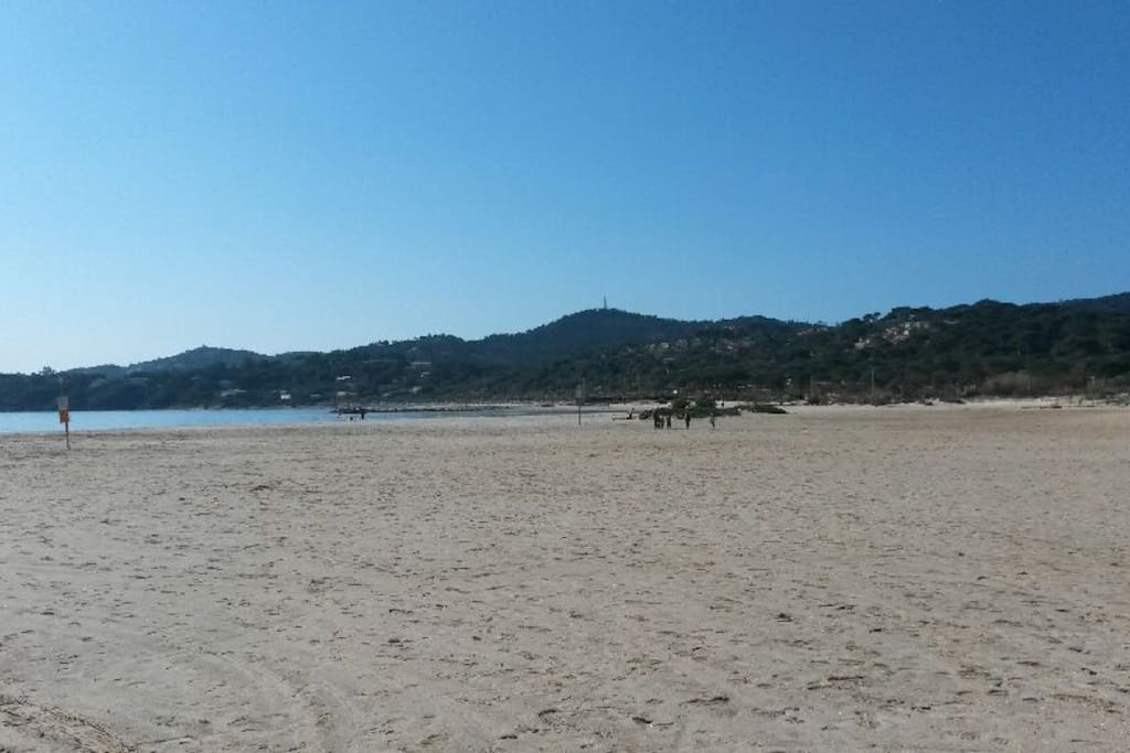 Très belle plage de sable fin