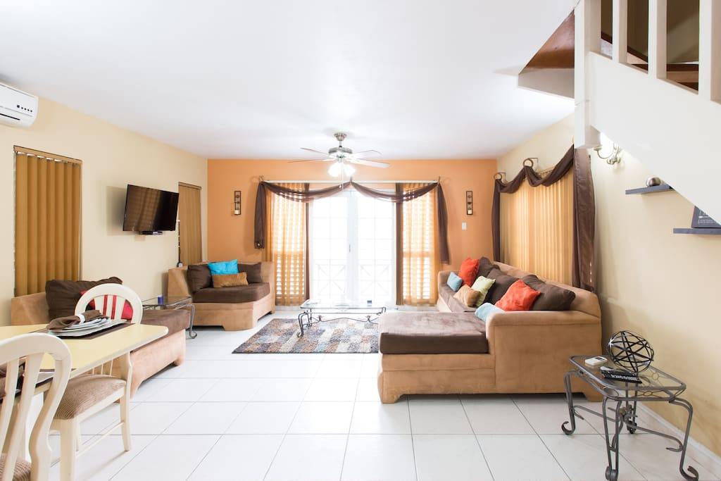 Spacious living and area