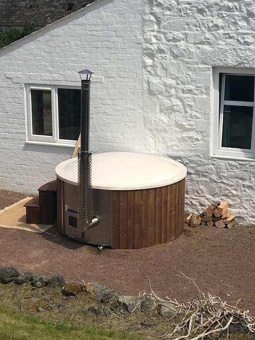 Woodfired hot tub