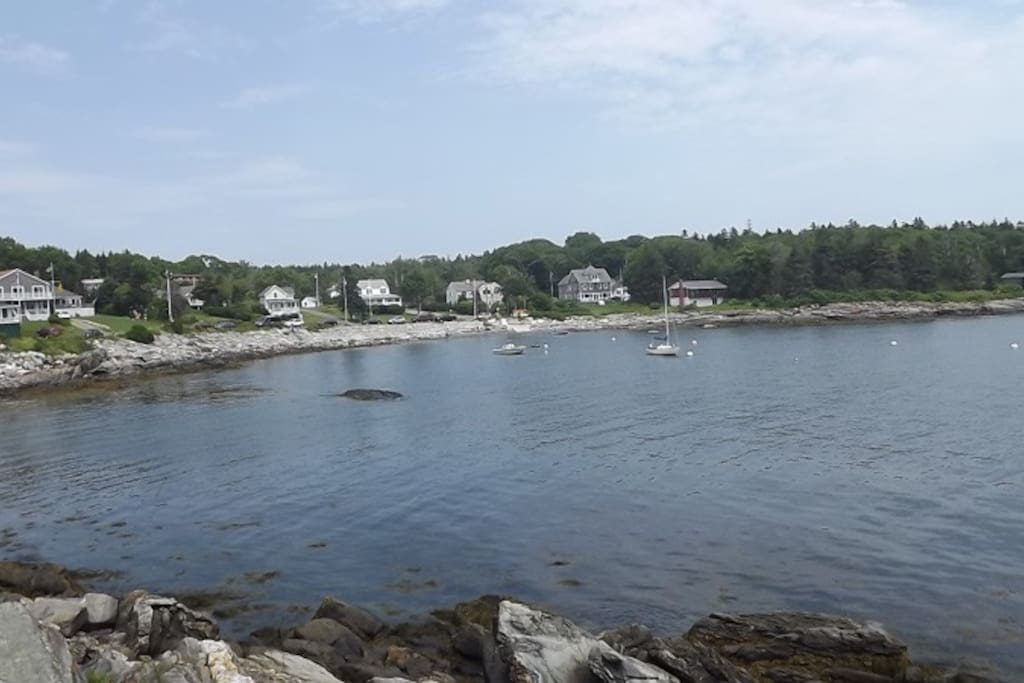 View from yard of Edge of the Sea overlooking Grimes Cove