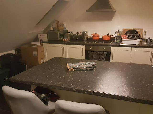 Large double room with private ensuite.