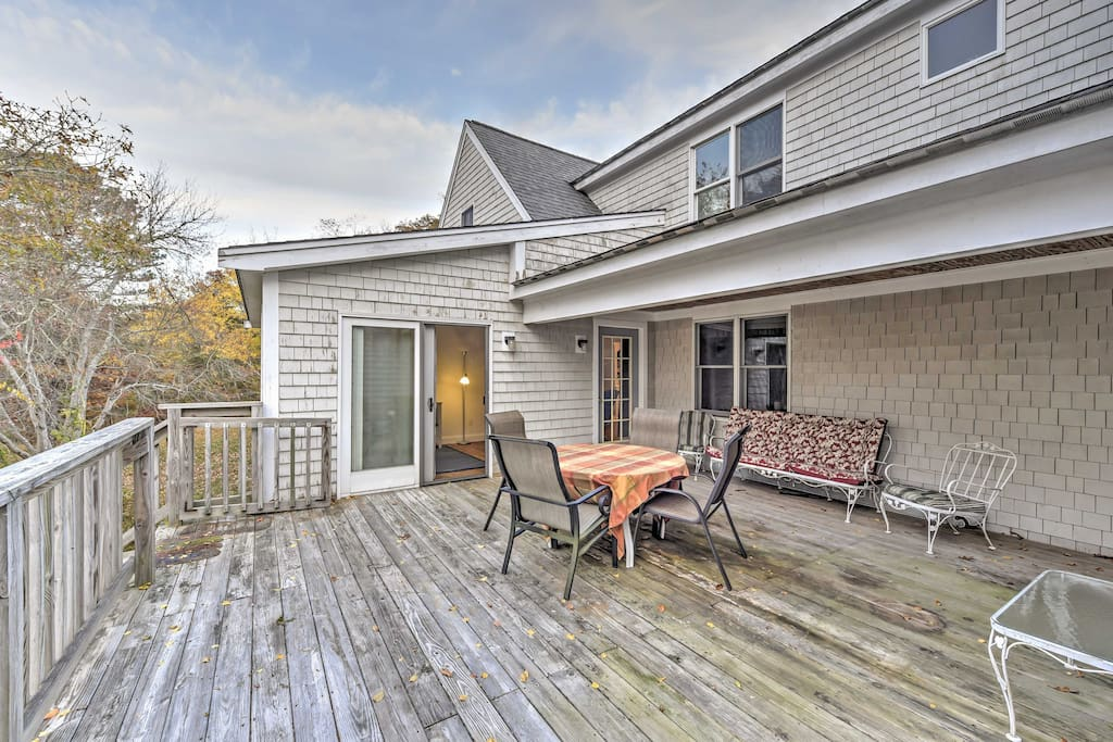You'll love unwinding with your loved ones on the spacious private deck.
