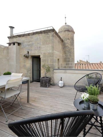 Vue sur les toits d'Arles