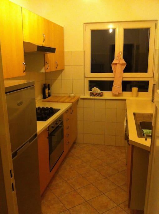 Die Küche:Praktisch und geräuming