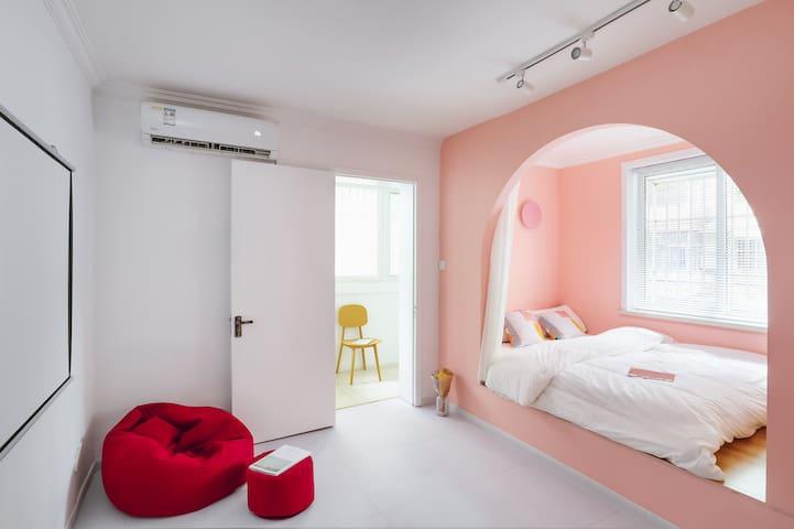 月租特惠丨3200新街口两室一厅,带投影仪,可洗衣做饭丨地铁站5min丨拎包入住丨U味城堡