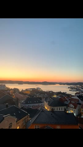 Panoramautsikt over Kragerø by