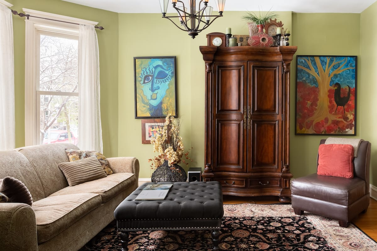 Admire Colorful Art at an Eclectic Wrigleyville Home
