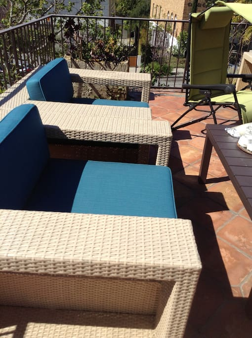 Seating on the terrace