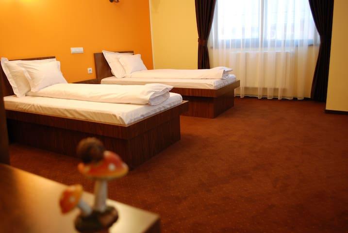 Modern twin room in a private Villa