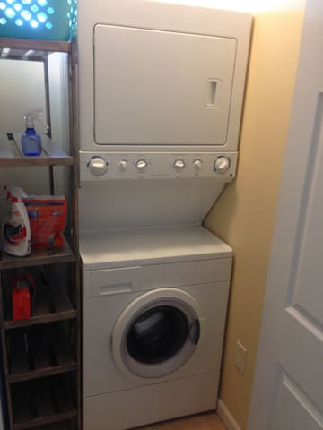 Washer and Dryer and Iron/Ironing Board