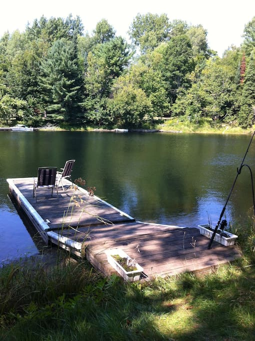 The dock, with great fishing!