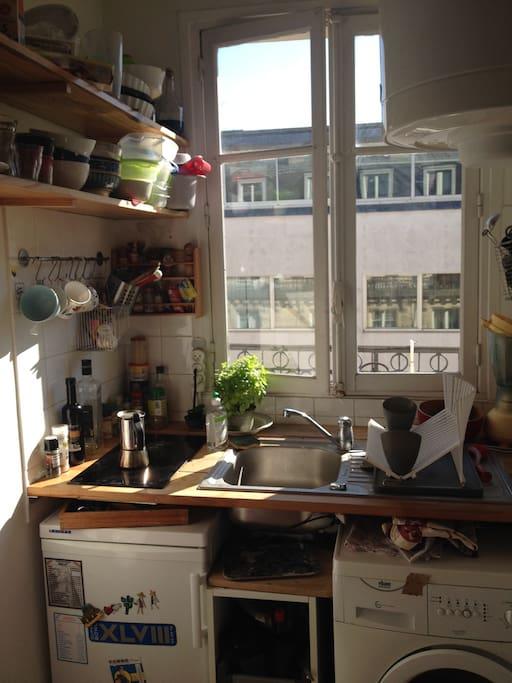 cuisine : frigo, machine à laver