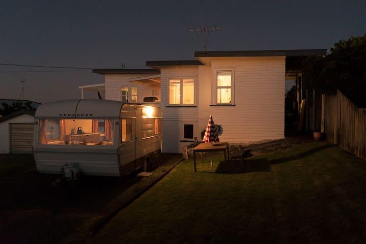 Classic Caravan with Ocean Views