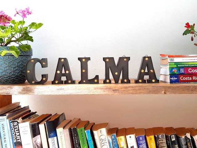 Those 5 letters mean a world to us. CALMA: the home for the alma (soul).