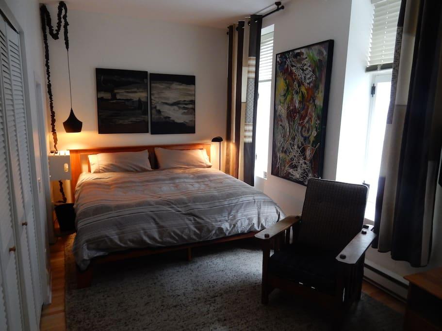 La 2e chambre.... lit king, télé, wi fi.