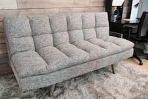 Additional SUPER COMFORTABLE sofa bed in your private room! :)