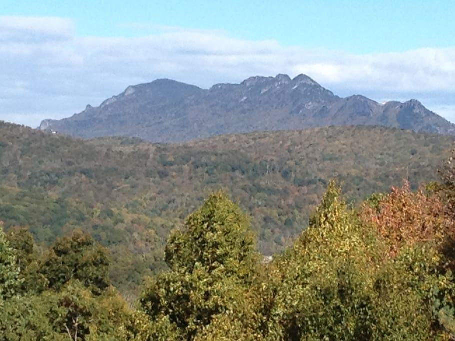 Grandfather Mountain from the property!