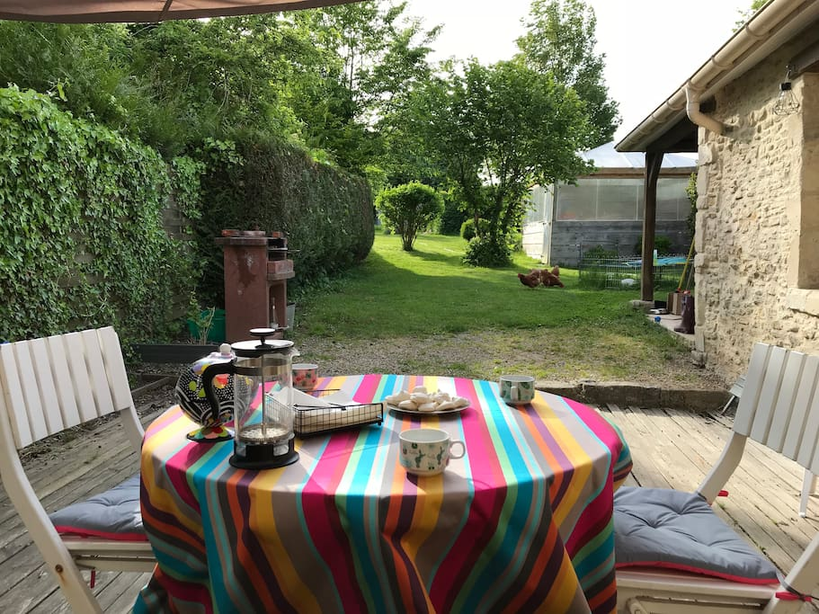La terrasse petit déjeuner selon la météo