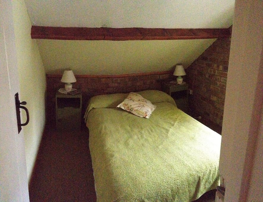 Double bedroom, over looks the river