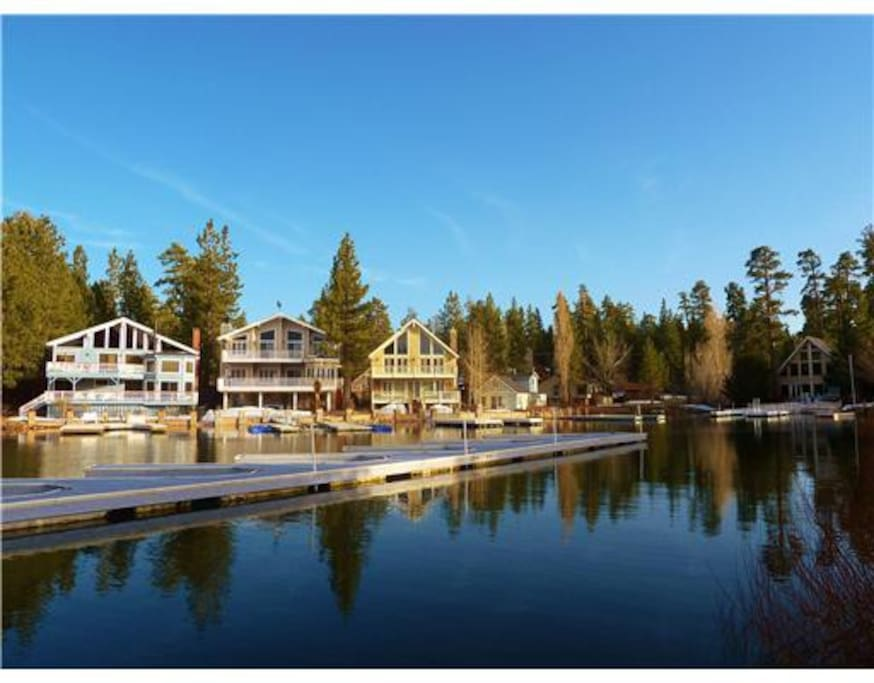 Condo in gated lakefront resort cabins for rent in big for Big bear cabins lakefront