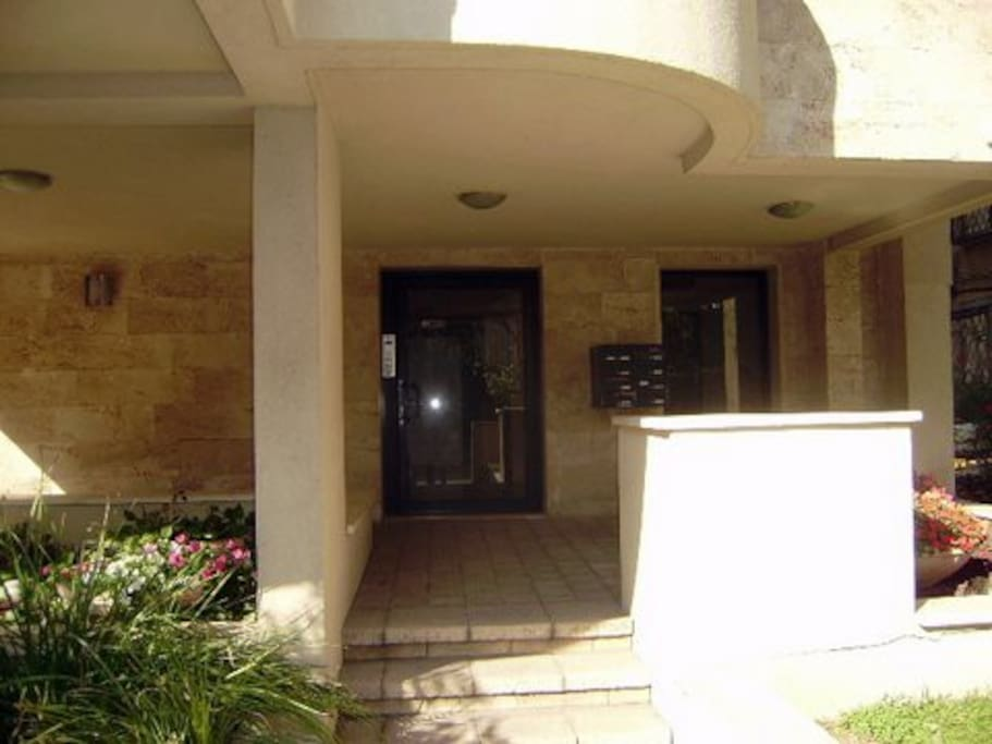 Entrance to our modern building