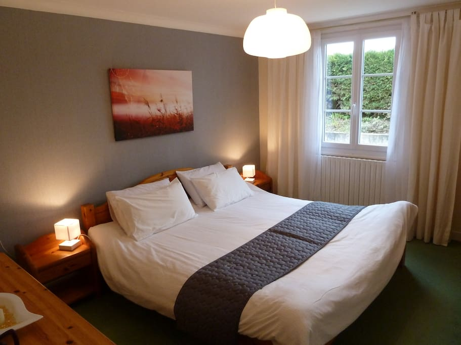 Large double bedroom with King size bed with individual mattresses