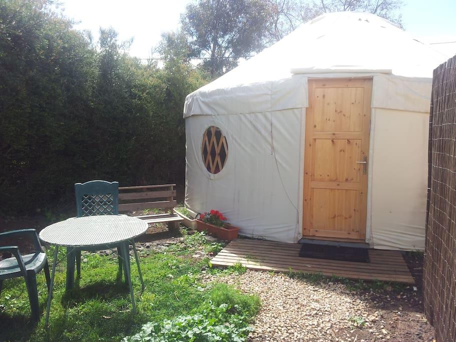 Yurt front