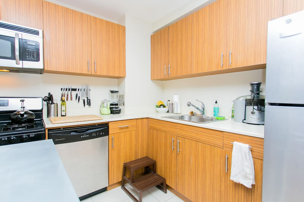 Good amount of space and most basic kitchen appliances available.