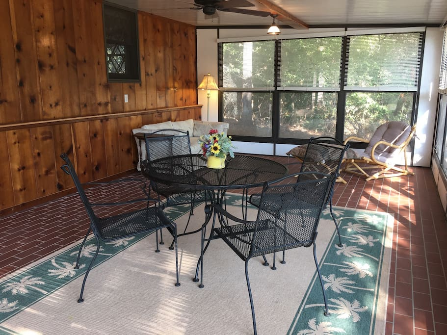 Dine or relax in the Sunroom