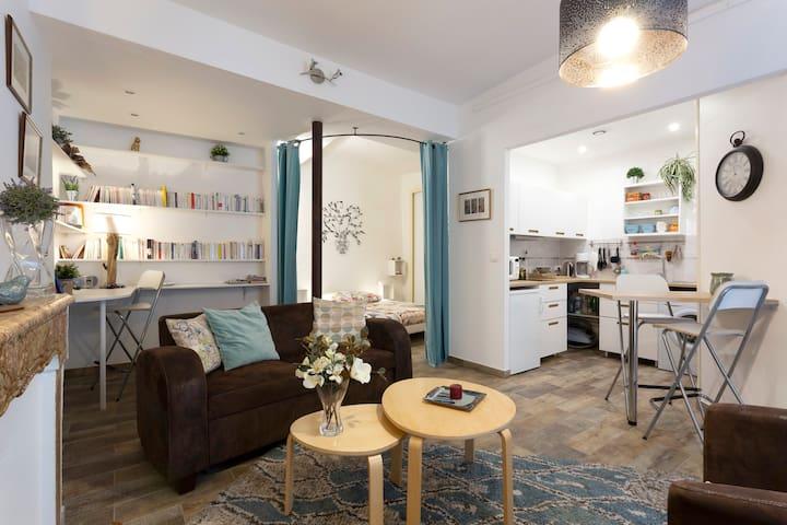 Grand studio rénové centre écusson