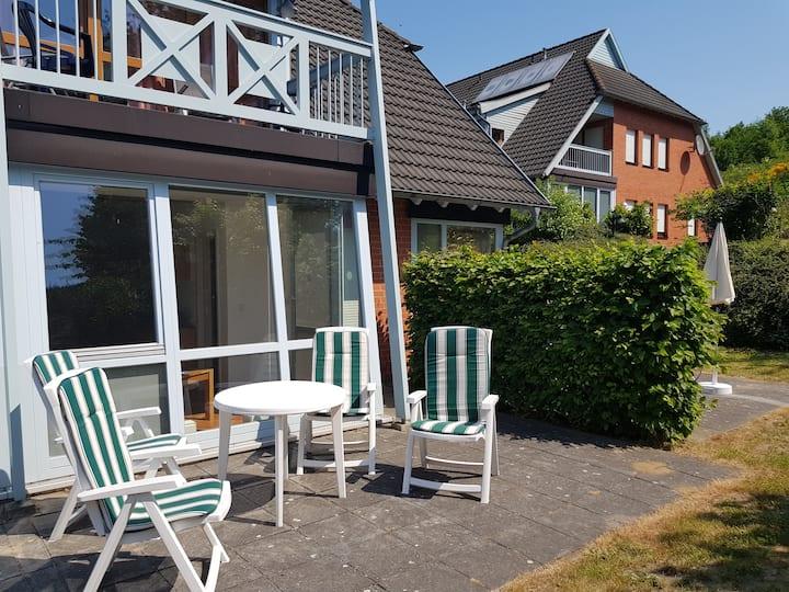 Appartement mit sonniger Terrasse und Wintergarten