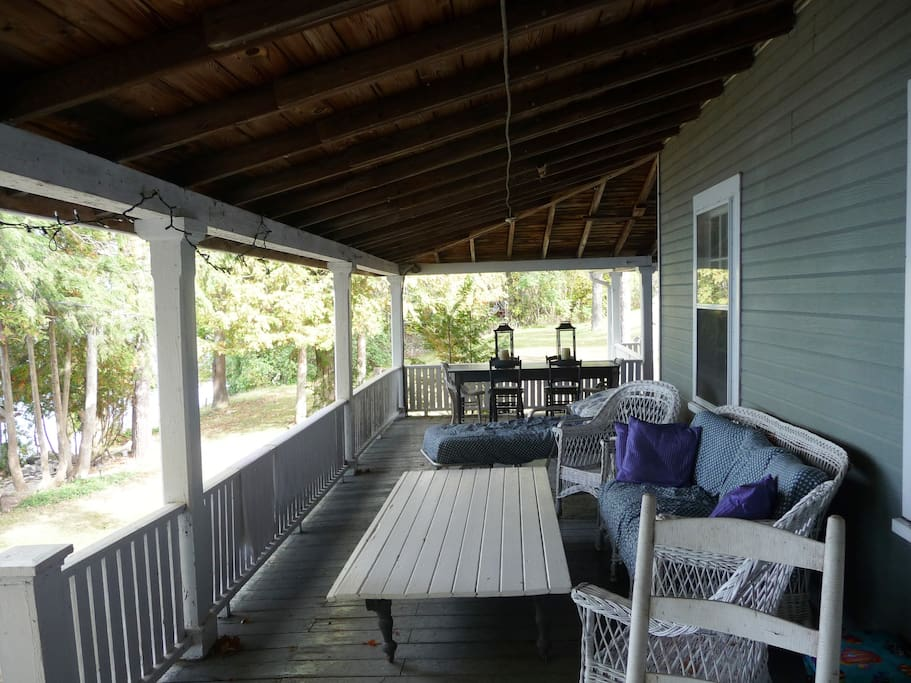 50 foot Lakefront wrap around porch