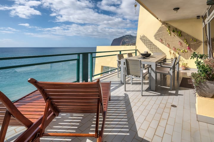 Balcony with a Beautiful sea view