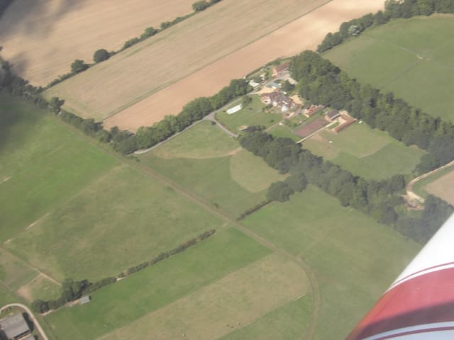 ariel view of the 4 houses in our area