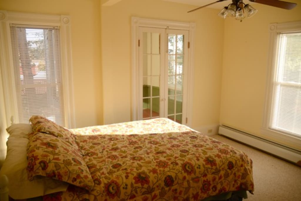 Second floor bedroom with adjoining porch