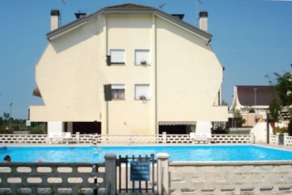 House from outside, and Swimming Pool of our village