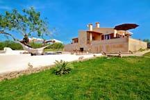 Rasenfläche und Garten der Finca  im-web.de/ Mallorcareise SL