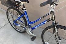 Two Beach cruiser bikes with combo locks.