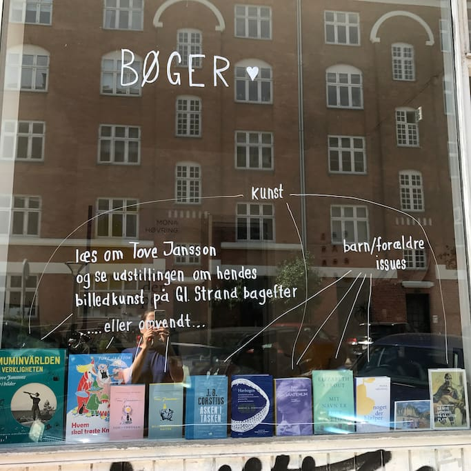 The bookshop window