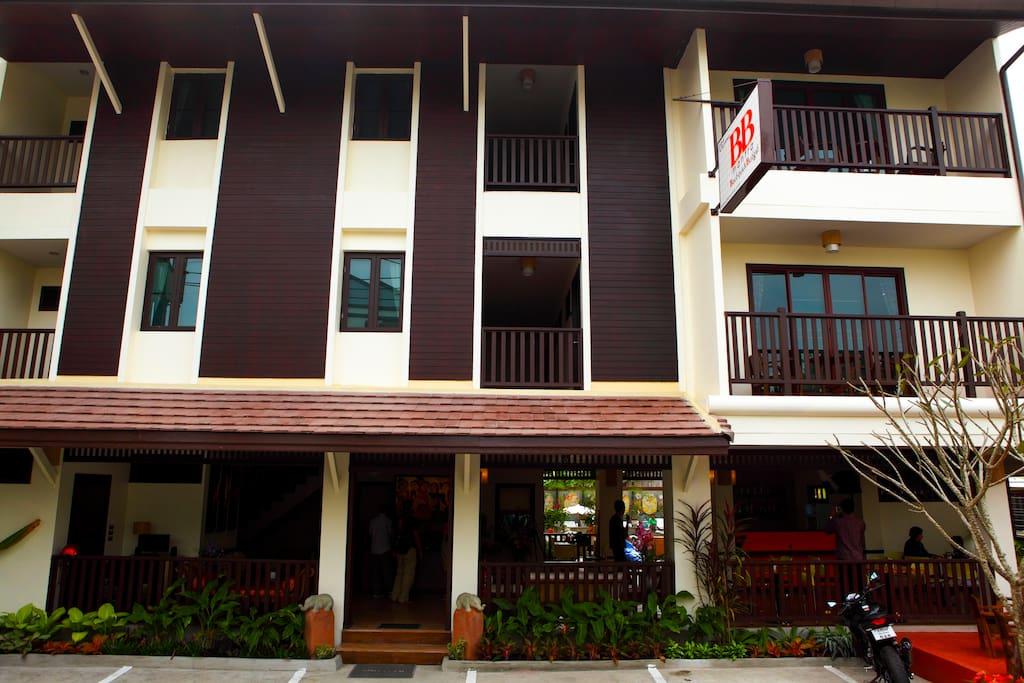Hotel front & street side