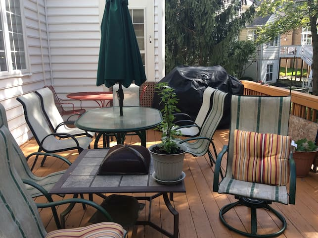Deck to enjoy outside and grill food