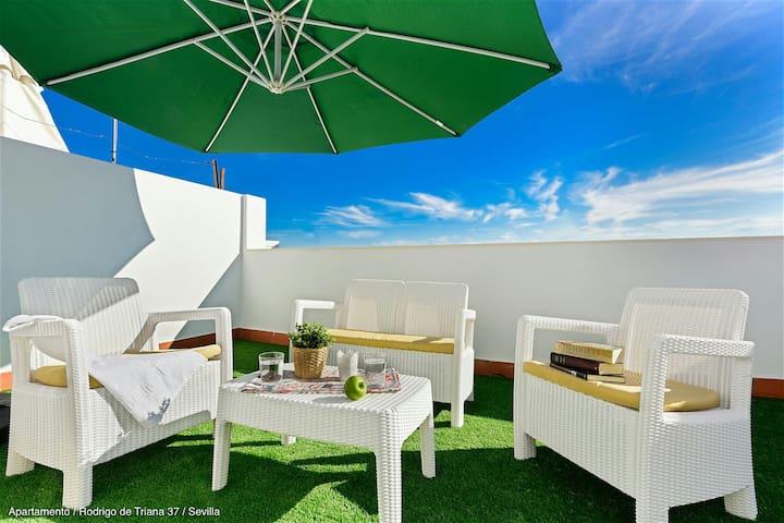Precioso ático En Triana Con Ascensor Y Terraza Apartments